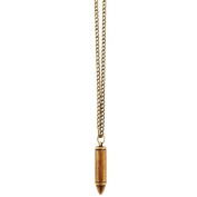 ANTIQUE GOLD BULLET PENDANT NECKLACE
