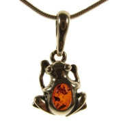 Baltic amber and sterling silver 925 designer cognac frog pendant jewellery jewellery
