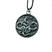 Handmade Courtney Davis Viking Gotland Serpent Pewter Pendant Necklace for Wisdom and Knowledge