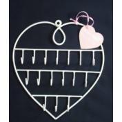 Heart shaped hook rack - jewellery/keys holder/organiser