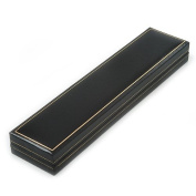 Black Leatherette Bracelet/ Pendant/ Watch Jewellery Box