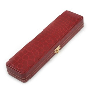 Luxury Burgundy Red Snake Leatherette Bracelet/ Pendant/ Watch Jewellery Box