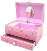 Childrens Girls Pink Musical Jewellery Box with Fairy