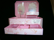 musical ballerina rectangle jewellery box