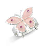 Children's pretty pink butterfly ring, adjustable. Matching bracelet and necklace also available - includes pretty gift bag
