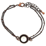 Mixology Large Crystal Double Chain Extendable Bracelet