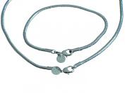 Klaritta Silver Plated Italian Snake Style Jewellery Set Necklace Chain & Bracelet S117