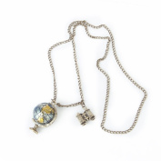 Globe Pendant Necklace on Long Chain