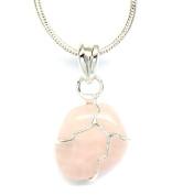Petite Rose Quartz Stone Necklace