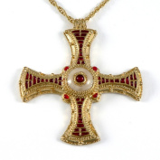 Historic Jewellery Reproduction Gold plated pewter - St. Cuthbert's Cross pendant - Unisex