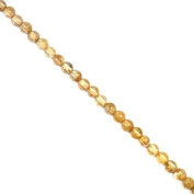 Rutilated Quartz Crystal Beads - 6mm Red / Gold Round