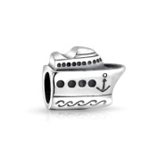 Bling Jewellery 925 Sterling Silver Nautical Cruise Ship Boat Bead Fits Pandora