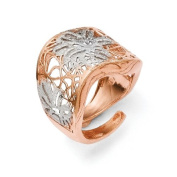 Sterling Silver and Rose Gold-plated Adjustable Ring - JewelryWeb