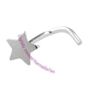 Silver Star Nose Stud