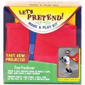 Fabric Editions Let's Pretend Cape Kit, Red
