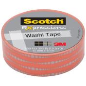 3M C314-P17 Washi Tape . 59 inch x 393 inch - 15mmx10m -Bubble Dots