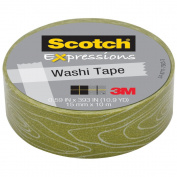 3M C314-P14 Washi Tape . 59 inch x 393 inch - 15mmx10m -Woodgrain