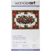 Caron 426127C Wonderart Latch Hook Kit 60cm x 34 inch-Elegant Roses