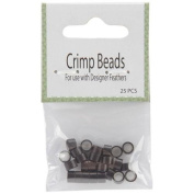 Midwest Design 159289 Crimp Beads 25-Pkg-Dark