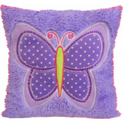 Mainstays Kids Butterfly Patches Decorative Pillow
