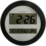 Mainstays Digital Wall Clock, Black