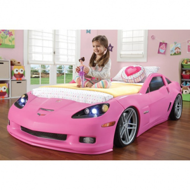 pink corvette car bed 2