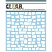 Clear Scraps CSSM6-BRCK Stencils 15cm x 6 inch-Brick