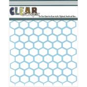 Clear Scraps CSSM6-CHICK Stencils 15cm x 6 inch-Chick
