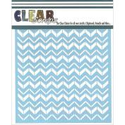 Clear Scraps CSSM6-CHVR Stencils 15cm x 6 inch-Chevron