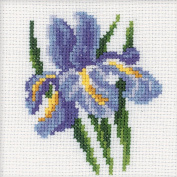 RTO Iris Flower Counted Cross-Stitch Kit, 10cm x 10cm , 14 Count
