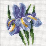 RTO Iris Flower Counted Cross-Stitch Kit, 10cm x 10cm , 14 Count