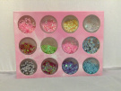 12 PCS Mix Color Carving Pattern Powder Decoration Nail Art Kit