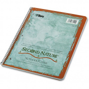 TOPS Second Nature Subject Wirebound Notebook, College Rule, 22cm x 28cm , 50 Sheets