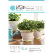 Martha Stewart Adhesive Stencils 5, 1.9cm x 7, 1.9cm 2 Sheets/pkg, Condensed Alphabet 79 Designs