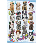 Trends International Puppy Headphones Poster