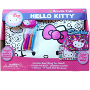 Hello Kitty Sparkle Tote Bag with Keychain and Markers