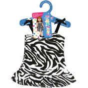 Springfield Collection Zebra Dress-Black and White