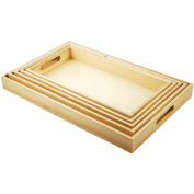 Paintable Wooden Trays W/Handles 5 Piece Set-15cm - 1.6cm x 33cm To 25cm -  .  cm x 41cm