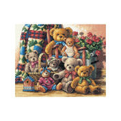 "Dimensions Gold Collection ""Teddy Bear Gathering"" Counted Cross Stitch Kit, 38cm x 30cm"