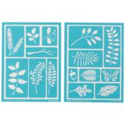 Martha Stewart Adhesive Stencils 2 Sheets/pkg, Leaves 22cm x20cm , 15 Designs