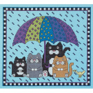 Janlynn Rain Rain Go Away Counted Cross Stitch Kit, 23cm x 20cm , 14 Count