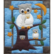 Owl Family Wall Hanging Quilt Kit-33cm X38cm