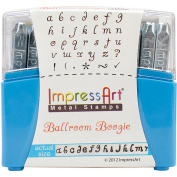 ImpressArt Lowercase Ballroom Boogie Stamp Set, 3mm