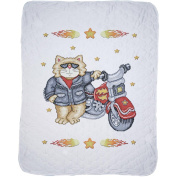 Born To Be Wild Baby Quilt Stamped Cross Stitch Kit, 90cm x 110cm