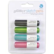 Silhouette Glitter Sketch Pens, 4/pkg