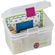 Creative Options Pro Latch Mini Tool Box, 17cm x 13cm x 13cm , Natural/Magenta