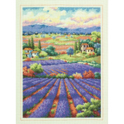 Gold Collection Fields Of Lavender Counted Cross Stitch Kit-41cm x 30cm 14 Count