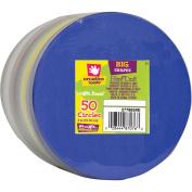 Fibre Craft Foam Sheet Stack, 10cm , Circle, 50/pkg, Multi Coloured