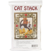 Cat Stack Quilt Kit-33cm X38cm
