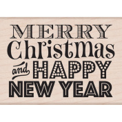 Hero Arts Mounted Rubber Stamps, Merry Christmas and Happy New Year